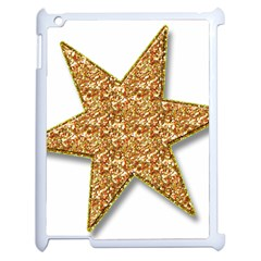 Star Glitter Apple Ipad 2 Case (white) by Nexatart