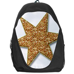 Star Glitter Backpack Bag by Nexatart