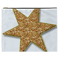 Star Glitter Cosmetic Bag (xxxl)  by Nexatart