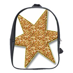 Star Glitter School Bags (xl)  by Nexatart