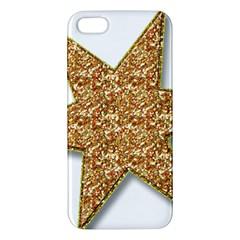 Star Glitter Apple Iphone 5 Premium Hardshell Case