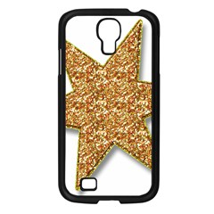 Star Glitter Samsung Galaxy S4 I9500/ I9505 Case (black) by Nexatart