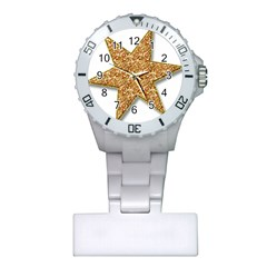 Star Glitter Plastic Nurses Watch by Nexatart
