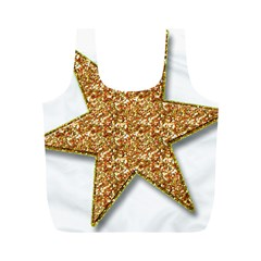 Star Glitter Full Print Recycle Bags (m)