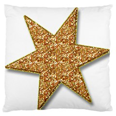 Star Glitter Large Flano Cushion Case (two Sides) by Nexatart
