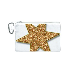 Star Glitter Canvas Cosmetic Bag (s) by Nexatart