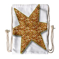 Star Glitter Drawstring Bag (large)