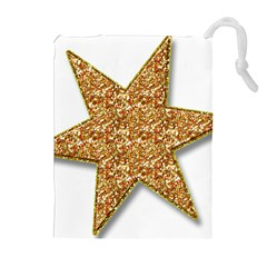 Star Glitter Drawstring Pouches (extra Large) by Nexatart