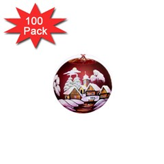 Christmas Decor Christmas Ornaments 1  Mini Magnets (100 Pack)  by Nexatart
