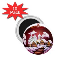 Christmas Decor Christmas Ornaments 1 75  Magnets (10 Pack)  by Nexatart