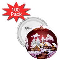 Christmas Decor Christmas Ornaments 1 75  Buttons (100 Pack)  by Nexatart