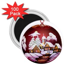 Christmas Decor Christmas Ornaments 2 25  Magnets (100 Pack)