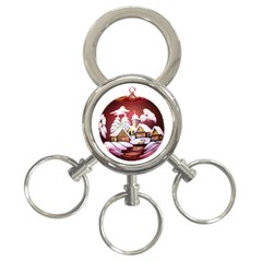 Christmas Decor Christmas Ornaments 3 Ring Key Chains by Nexatart