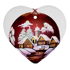 Christmas Decor Christmas Ornaments Heart Ornament (two Sides)