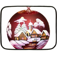 Christmas Decor Christmas Ornaments Double Sided Fleece Blanket (mini)