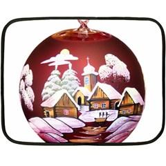 Christmas Decor Christmas Ornaments Double Sided Fleece Blanket (mini)  by Nexatart