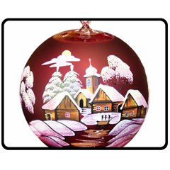 Christmas Decor Christmas Ornaments Fleece Blanket (medium)