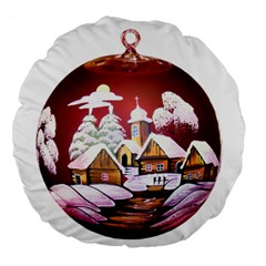 Christmas Decor Christmas Ornaments Large 18  Premium Round Cushions by Nexatart