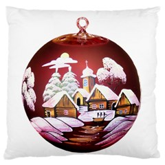 Christmas Decor Christmas Ornaments Large Flano Cushion Case (two Sides)