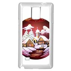 Christmas Decor Christmas Ornaments Samsung Galaxy Note 4 Case (white) by Nexatart