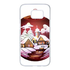 Christmas Decor Christmas Ornaments Samsung Galaxy S7 Edge White Seamless Case by Nexatart
