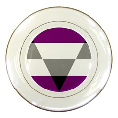 Aegosexual Autochorissexual Flag Porcelain Plates by Mariart