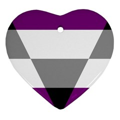 Aegosexual Autochorissexual Flag Heart Ornament (two Sides) by Mariart