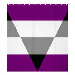 Aegosexual Autochorissexual Flag Shower Curtain 66  X 72  (large)  by Mariart