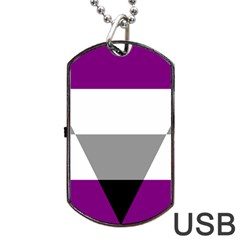 Aegosexual Autochorissexual Flag Dog Tag Usb Flash (one Side) by Mariart
