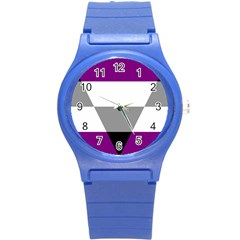 Aegosexual Autochorissexual Flag Round Plastic Sport Watch (s) by Mariart