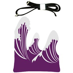 Waves Purple Wave Water Chevron Sea Beach Shoulder Sling Bags by Mariart