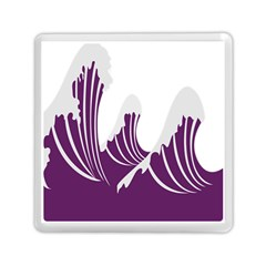 Waves Purple Wave Water Chevron Sea Beach Memory Card Reader (square)  by Mariart