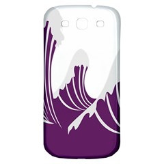 Waves Purple Wave Water Chevron Sea Beach Samsung Galaxy S3 S Iii Classic Hardshell Back Case by Mariart