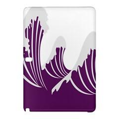 Waves Purple Wave Water Chevron Sea Beach Samsung Galaxy Tab Pro 12 2 Hardshell Case by Mariart