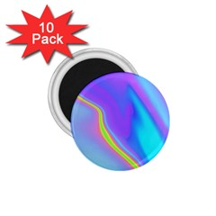 Aurora Color Rainbow Space Blue Sky Purple Yellow 1 75  Magnets (10 Pack)  by Mariart