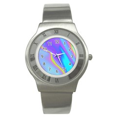Aurora Color Rainbow Space Blue Sky Purple Yellow Stainless Steel Watch by Mariart