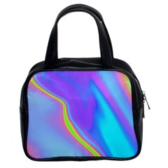 Aurora Color Rainbow Space Blue Sky Purple Yellow Classic Handbags (2 Sides) by Mariart