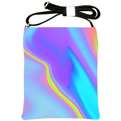 Aurora Color Rainbow Space Blue Sky Purple Yellow Shoulder Sling Bags by Mariart