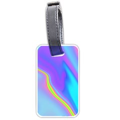 Aurora Color Rainbow Space Blue Sky Purple Yellow Luggage Tags (one Side)  by Mariart