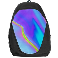 Aurora Color Rainbow Space Blue Sky Purple Yellow Backpack Bag by Mariart