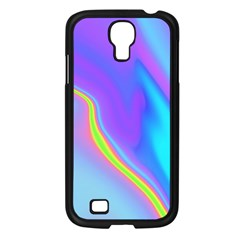 Aurora Color Rainbow Space Blue Sky Purple Yellow Samsung Galaxy S4 I9500/ I9505 Case (black) by Mariart