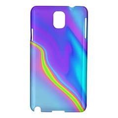 Aurora Color Rainbow Space Blue Sky Purple Yellow Samsung Galaxy Note 3 N9005 Hardshell Case by Mariart
