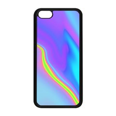Aurora Color Rainbow Space Blue Sky Purple Yellow Apple Iphone 5c Seamless Case (black) by Mariart