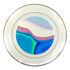 Aurora Color Rainbow Space Blue Sky Purple Yellow Green Porcelain Plates by Mariart