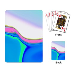 Aurora Color Rainbow Space Blue Sky Purple Yellow Green Playing Card by Mariart