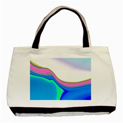 Aurora Color Rainbow Space Blue Sky Purple Yellow Green Basic Tote Bag by Mariart