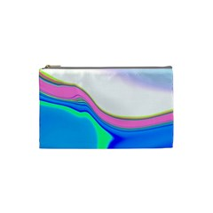 Aurora Color Rainbow Space Blue Sky Purple Yellow Green Cosmetic Bag (small)  by Mariart