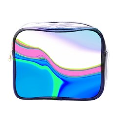 Aurora Color Rainbow Space Blue Sky Purple Yellow Green Mini Toiletries Bags by Mariart