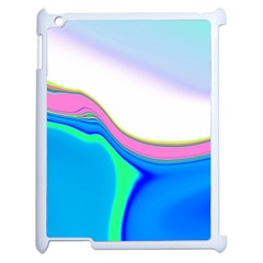 Aurora Color Rainbow Space Blue Sky Purple Yellow Green Apple Ipad 2 Case (white) by Mariart