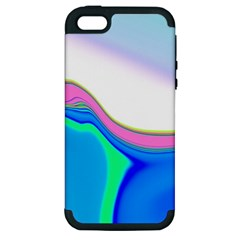 Aurora Color Rainbow Space Blue Sky Purple Yellow Green Apple Iphone 5 Hardshell Case (pc+silicone) by Mariart